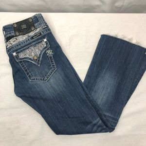 """Miss Me Jeans Bootcut """"Angel Wings"""" Size 27"""
